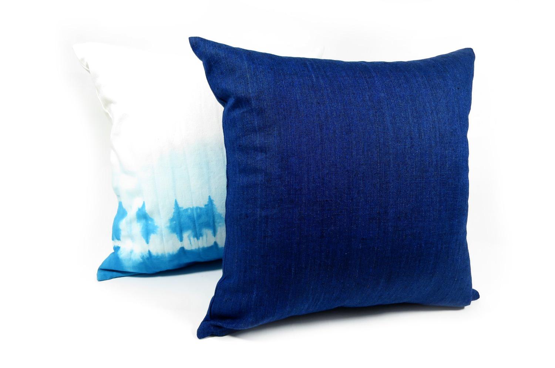 The Natural Linen 天然素材リネンクッションカバー インディゴブルー 50×50cm
