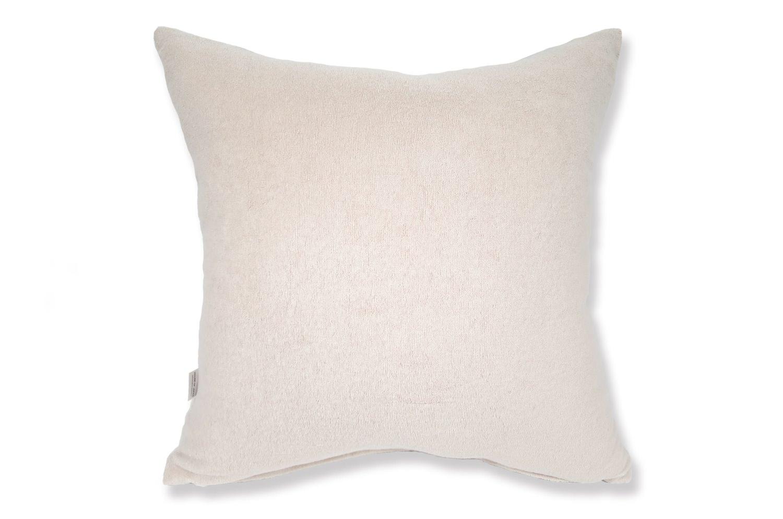 The Shirring Towel ベルベットタッチシャーリングタオルクッションカバー ペールローズ 50×50cm