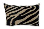 The Brown Zebra スペイン製起毛スエードタッチ ゼブラ柄クッション ブラウン 48×33cm 中材付)