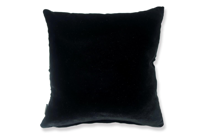 The Fisba Velvet フィスバベルベットクッションカバー シャイングレー×ブラック 40×40cm