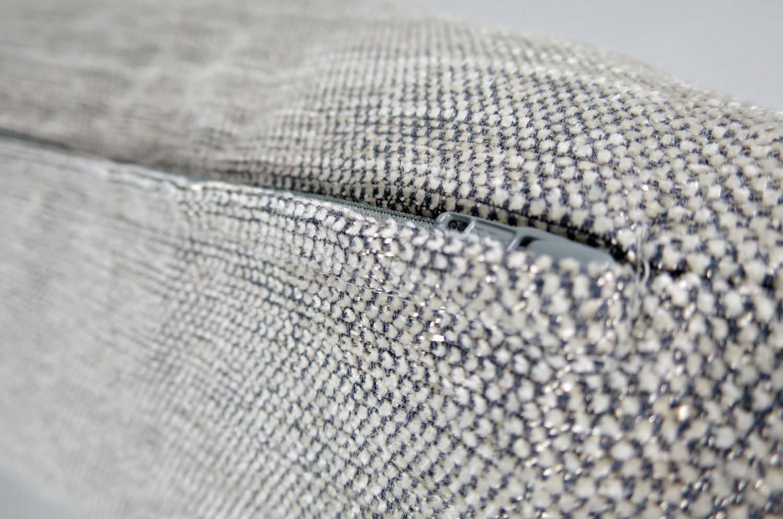シルバーグレーメタ 柔らかクッションカバー 50×50cm