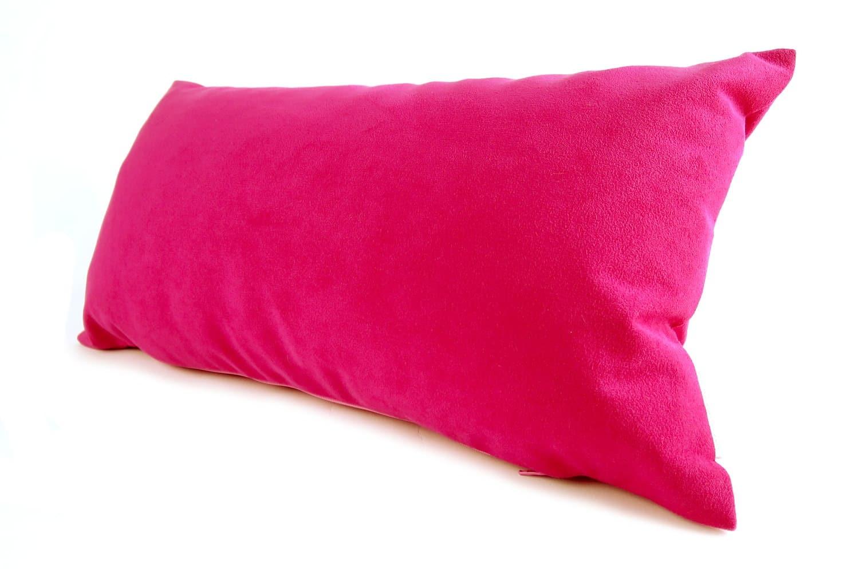 高級Fake Leather スエード ピンク クッション 45×25 中材付