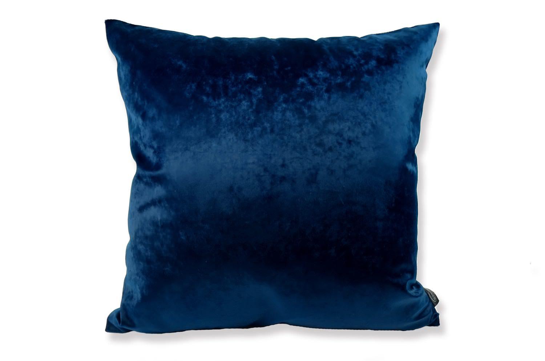 The Velvet ベルベットクッションカバー シャインブルー×グレー 45×45cm