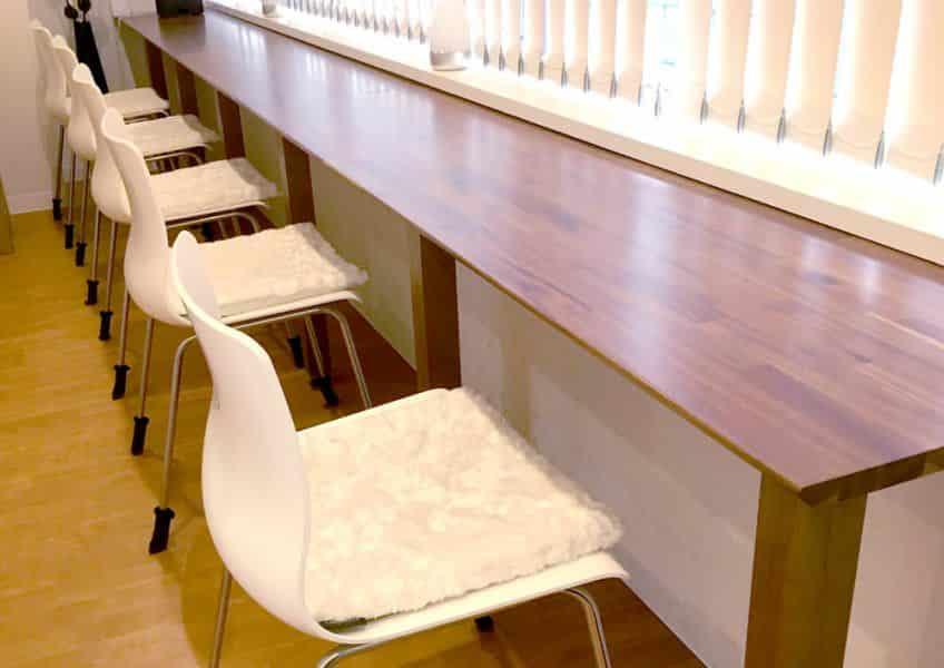 TLC日本橋クリニック様の椅子用クッションを製作
