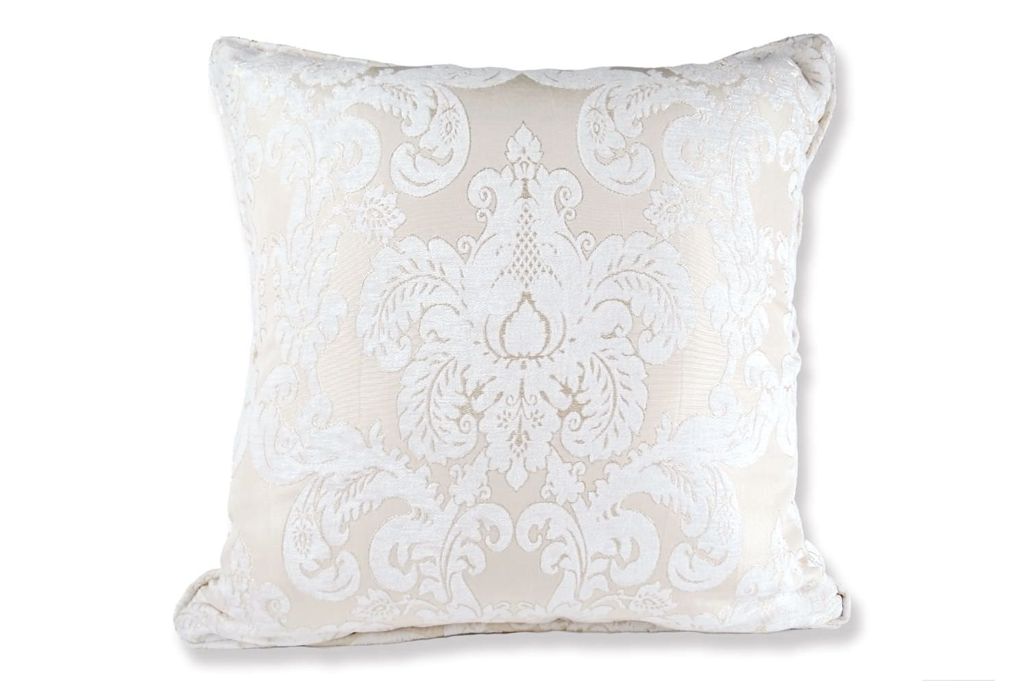 The Pearl White Damask ダマスク柄クッションカバー パールホワイト 50×50cm
