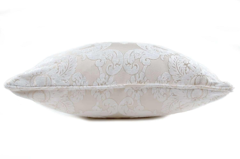 The Pearl White Damask ダマスク柄クッションカバー パールホワイト 50×50cm