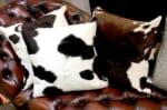 モダンな上質毛並みの牛革クッションカバー 50cm×50cm NO.14