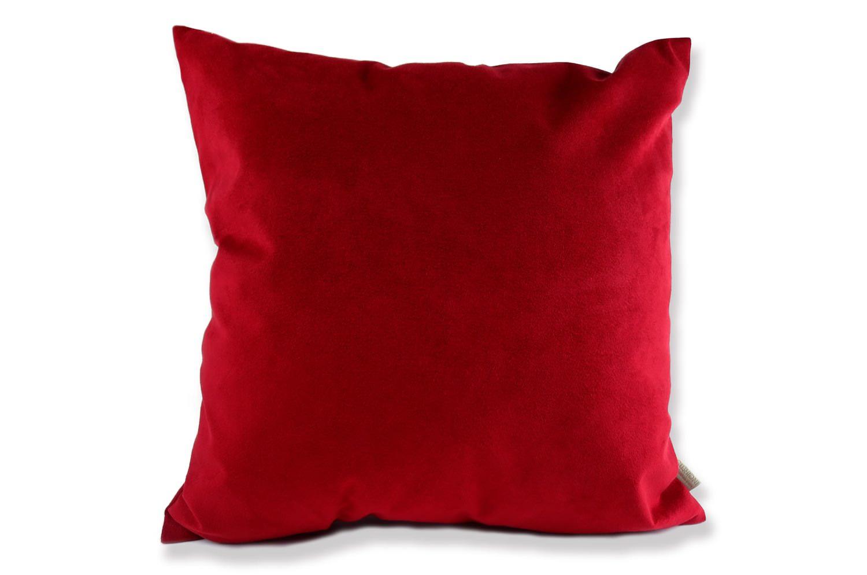 高級Fake Leather スエード Deep Red クッションカバー 45×45