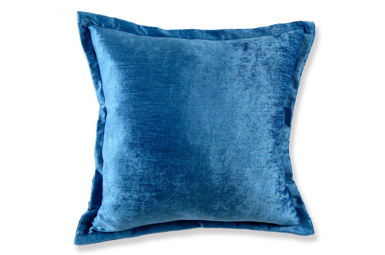 新色 Blue velor ブルー ベロア クッションカバー 45×45