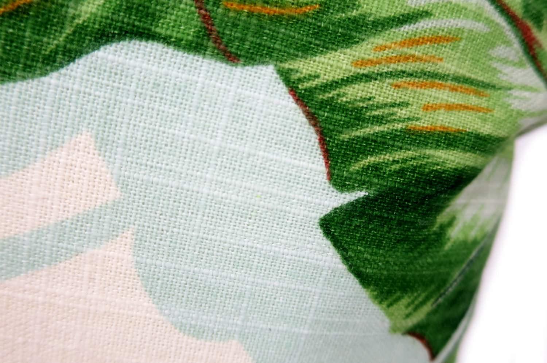 The Botanical ジムトンプソンボタニカル柄リネンクッション グリーン 45×30cm 中材付
