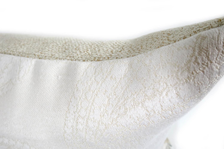 The Paisley ジムトンプソンリネンペーズリー柄クッションカバー ホワイト 45×45cm