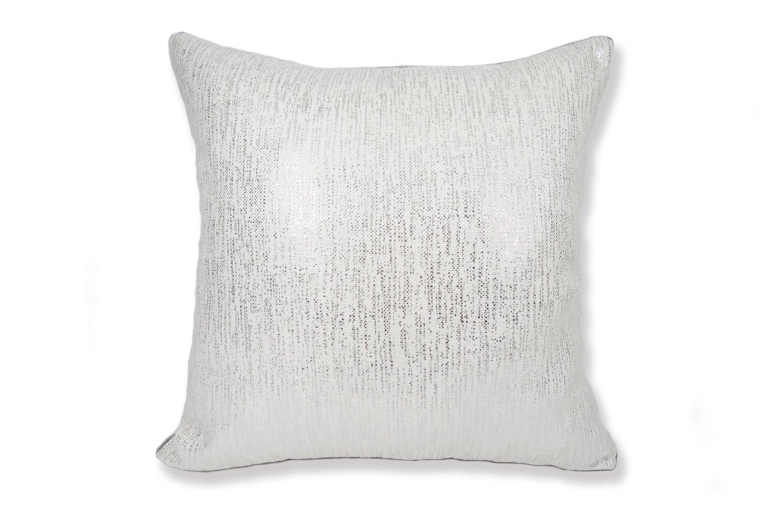 シルバーラメ ホワイト クッションカバー 45×45
