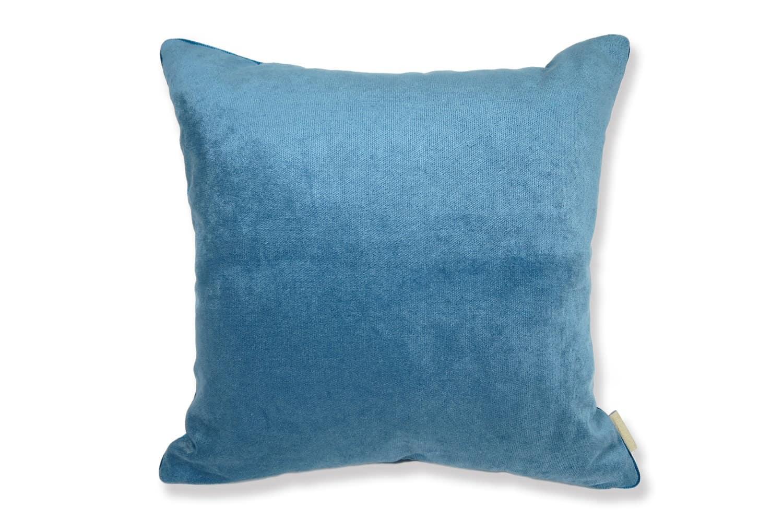 キュートベルベット ブルー クッションカバー 45×45