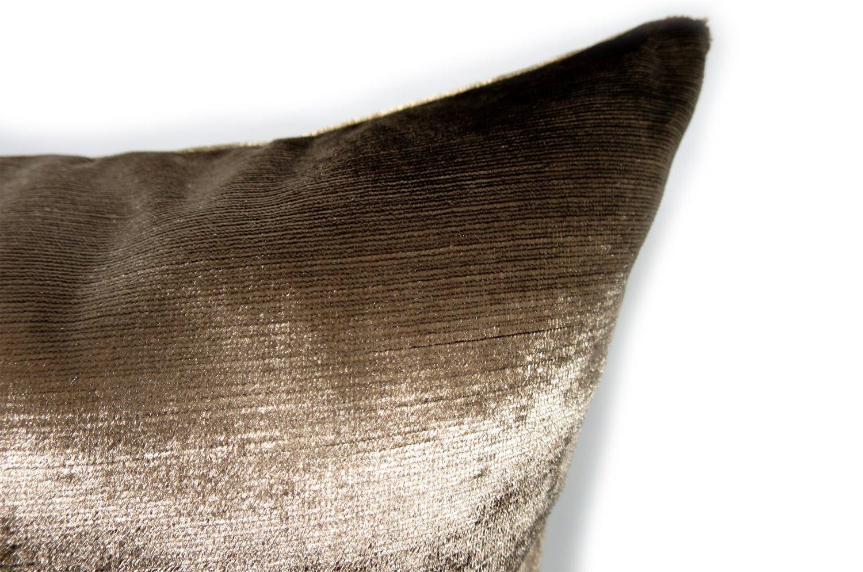 The Gloss グロスベルベットクッションカバー ゴールドブラウン 45×45cm