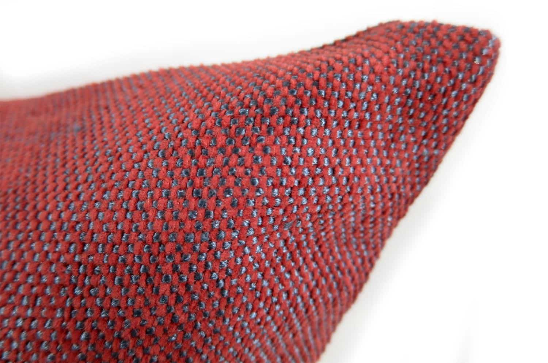ジムトンプソン ブルーレッドmixedジャガード クッションカバー 50×50
