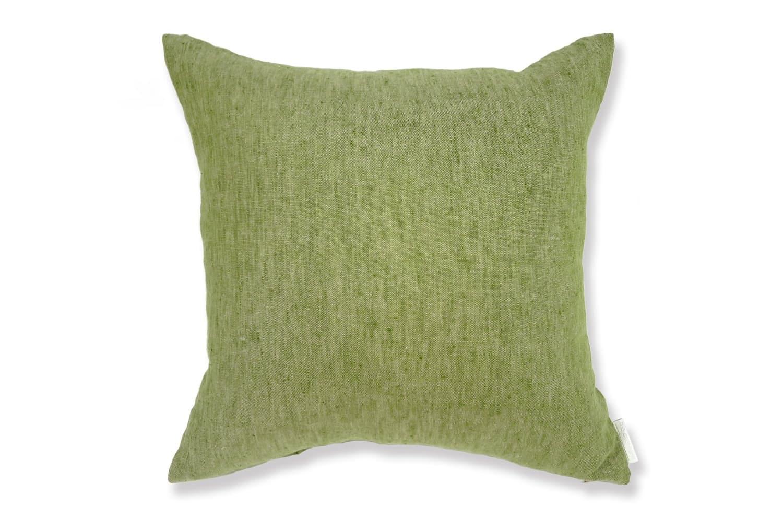 The Natural Linen 天然素材リネンクッションカバー グリーン 45×45cm