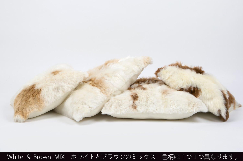 The Alpaka アルパカクッションカバー <ナチュラルホワイト&ブラウンMIX>