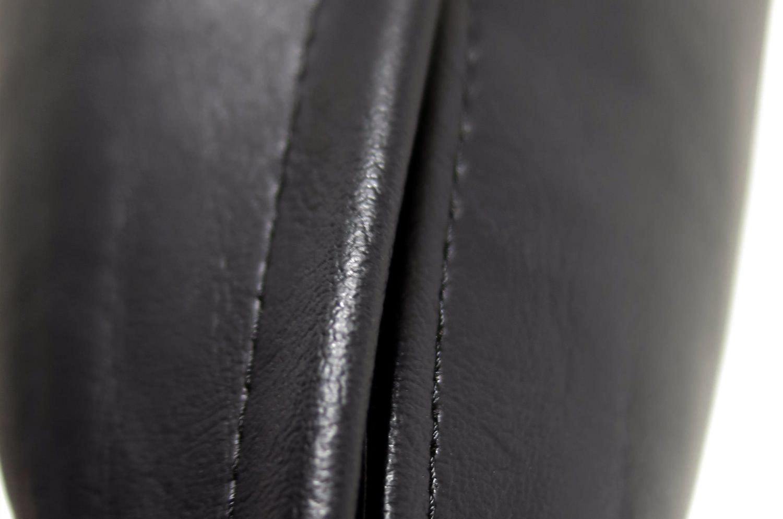 スマイル 『ニコフェイス®』/黒にブラック刺繍のスマイル 『ニコフェイス®』CHIBI クッション 34×34