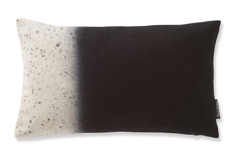 フィスバ クラッシュ(ブラック) 横長クッションカバー 2042B.206 30×50cm