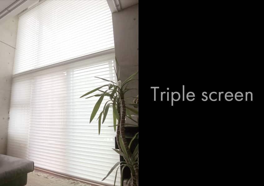 トリプルスクリーン製作