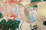 The Japan 孔雀鳳凰図 西陣 75×36×5 中材付