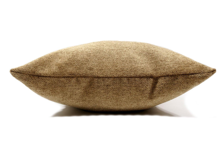The Washable 柔らか素材のウォッシャブルクッションカバー キャメル 50×50cm