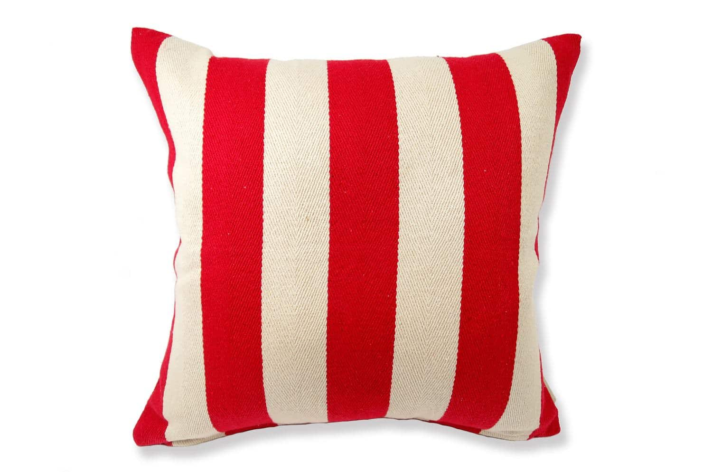 The Red Stripe レッドストライプコットン横長クッションカバー 45×45cm