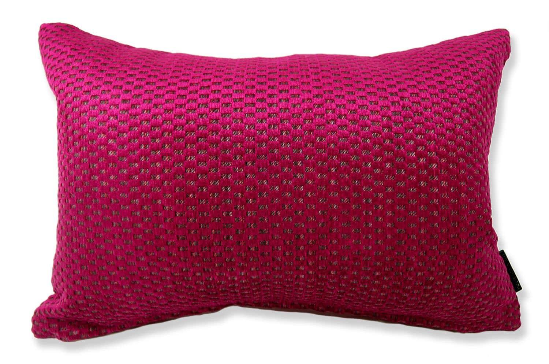 The Bordeaux Pink Cut Velvet しっとり高級感カットベルベット横長クッション ボルドーピンク 45×30cm 中材付
