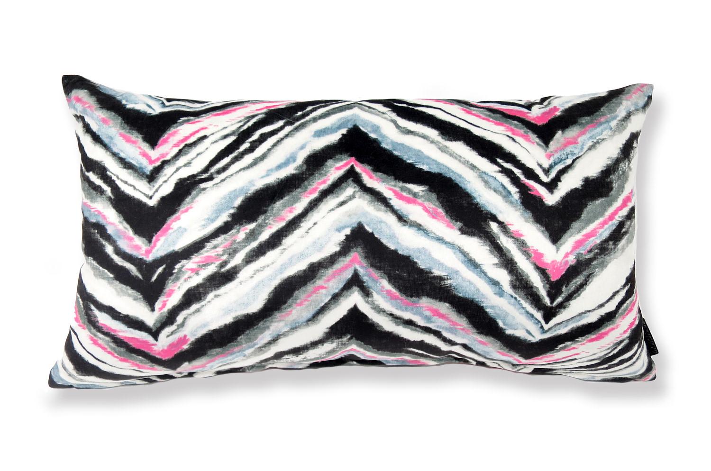 横長 スペイン製 起毛スエード調 zigzag color クッション 65cm×36cm(中材付)