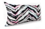The Colorful ZigZag スペイン製 起毛スエード調 カラフルジグザグ横長クッション 65×36cm 中材付