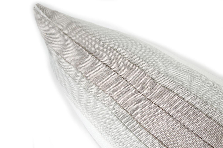 The Gray Gradation 爽やかグレーグラデーションクッション45×30cm 中材付