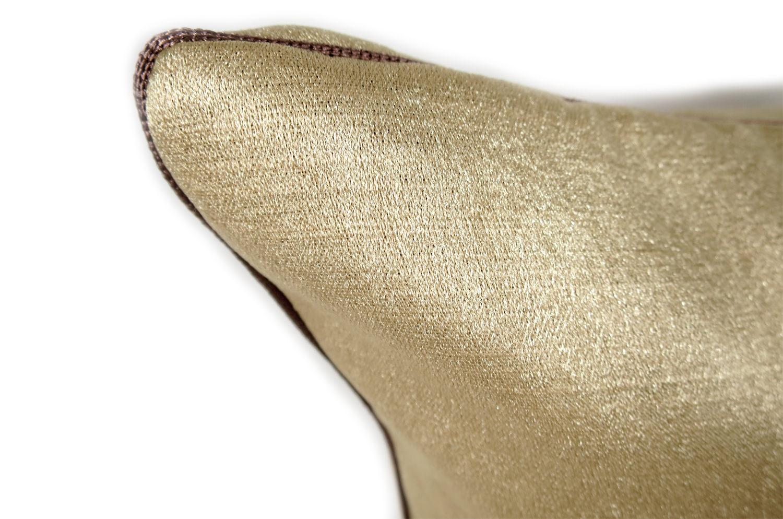 シャイン ミルキーゴールド クッションカバー 45×45cm