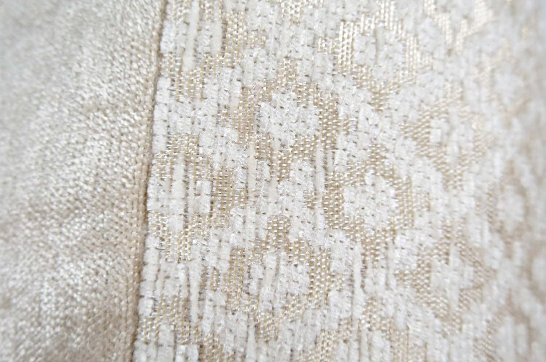 ダイヤモンドパターン クリーム色クッションカバー 40×40cm