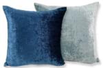 The Navy × Light Blue Soft Velour ソフトベロアクッションカバー ネイビー×ライトブルー 45×45cm