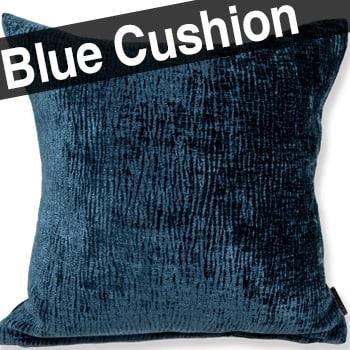 柔らか厚地 ロイヤルビロード オールドブルー クッションカバー 45×45