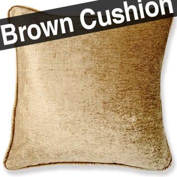 ゴールドブラウン シャインベロア クッションカバー 45×45
