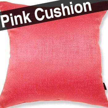 ポルトガル生地 Linen Shine pink アルデコ シャインピンククッションカバー 45