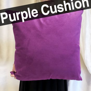 パープル紫色クッション