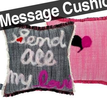 すべての愛をメッセージクッションで捧げて 35×35