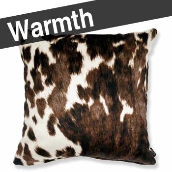 Cow patten 牛柄 クッションカバー スペイン生地 起毛スエード調 ブラウン 45