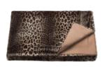 至極の肌触り LEO ヒョウ柄ドイツ製フェイクファーブランケット 180×150cm