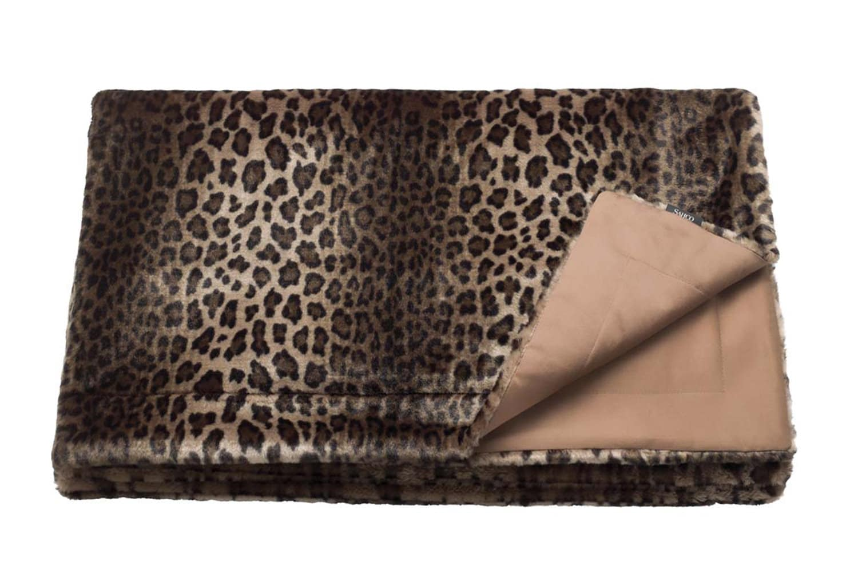 The Leopard Blanket 至極の肌触り ヒョウ柄エコファーブランケット 180×150cm
