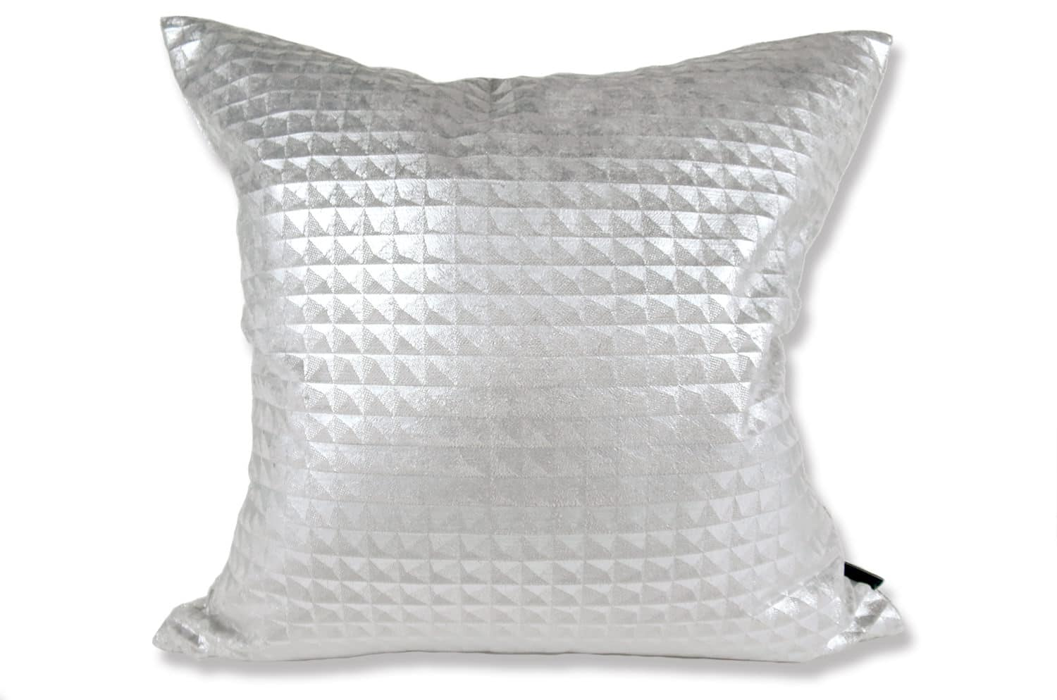 The Moonlit Pyramid Silver cushion by Kirkby Design x ELEY KISHIMOTO(イーリー キシモト)fabric クッションカバー 50×50cm