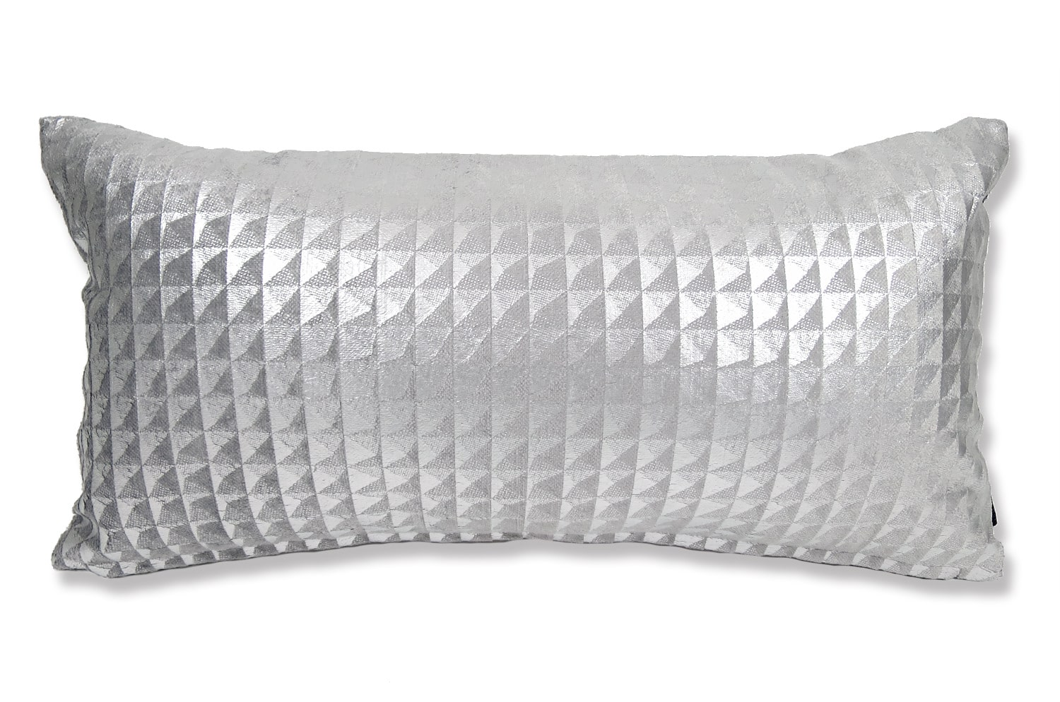 The Moonlit Pyramid Silver cushion by Kirkby Design x ELEY KISHIMOTO(イーリー キシモト)fabric クッション 50×25cm 中材付