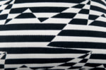 The Stripey ZigZag Bird Monochrome cushion by Kirkby Design x ELEY KISHIMOTO(イーリー キシモト)fabric クッションカバー 50×50cm