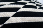 The Stripey ZigZag Bird Monochrome cushion by Kirkby Design x ELEY KISHIMOTO(イーリー キシモト)fabric クッションカバー 50×50cm