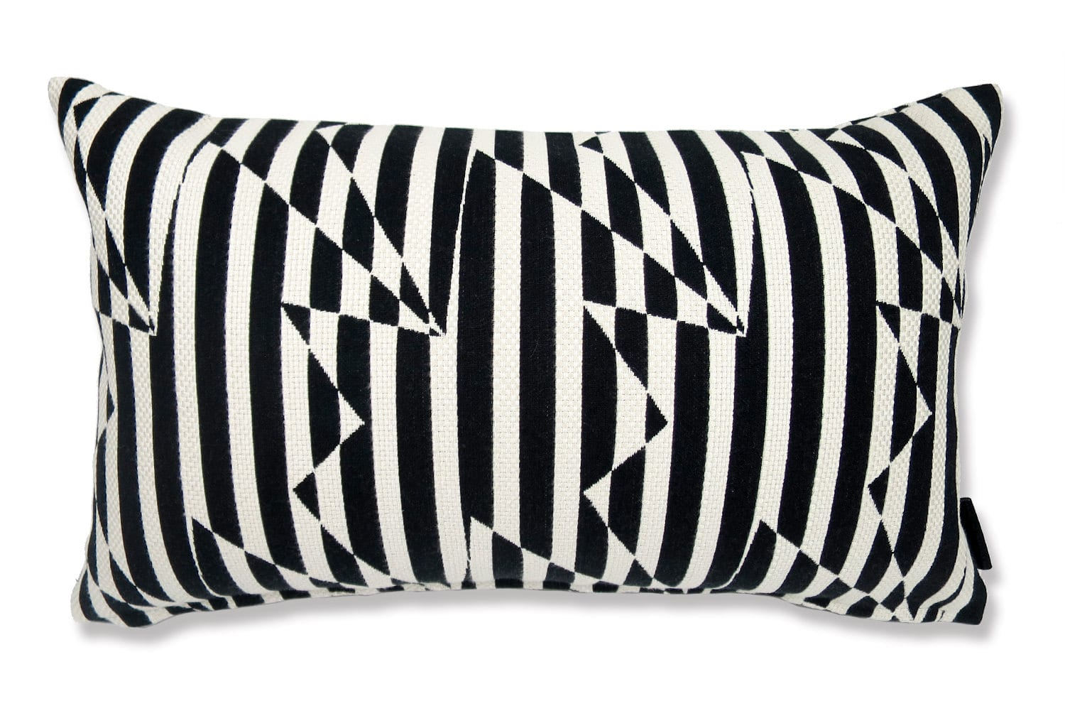 The Stripey ZigZag Bird Monochrome cushion by Kirkby Design x ELEY KISHIMOTO(イーリー キシモト)fabric クッション 50×30cm 中材付
