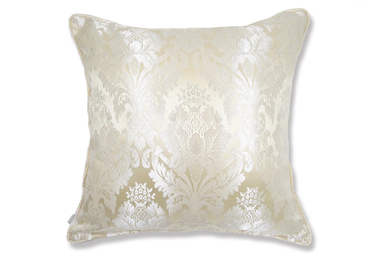 The Silky beige Damask ダマスク柄クッションカバー シルキーベージュ 50×50cm