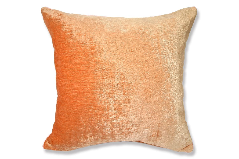 シャーベットオレンジ ベロア クッションカバー 45cm×45cm