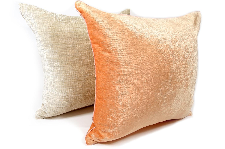 The Sherbet orange Velour ベロアクッションカバー シャーベットオレンジ 45×45cm